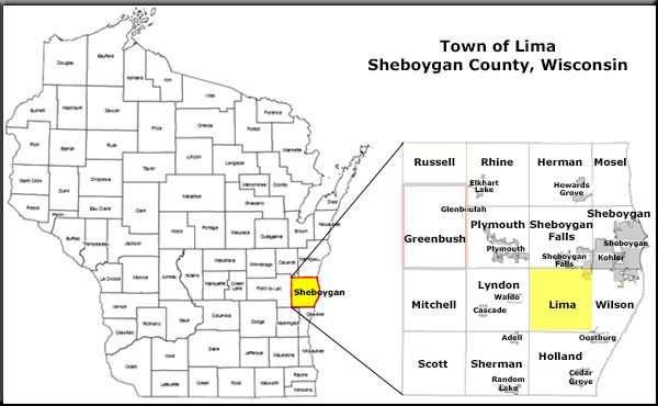 Town Lima & Sheboygan County Map